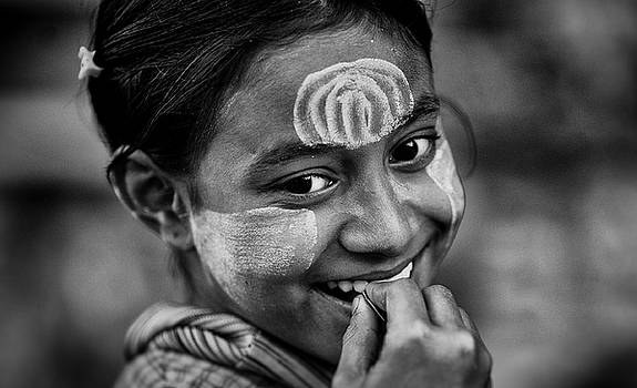Burma Smiling Girl by David Longstreath