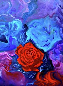 Bursting Rose by Jenny Lee