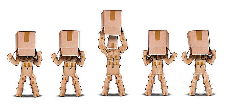 Business vision concept with boxmen characters by Simon Bratt Photography LRPS