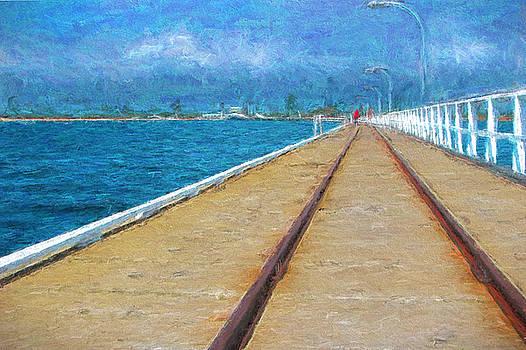 Michelle Wrighton - Busselton Jetty Train Tracks