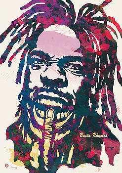 Busta Rhymes Pop Art Poster by Kim Wang