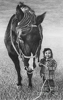 Buttercup and Her Horse by Chad Keith