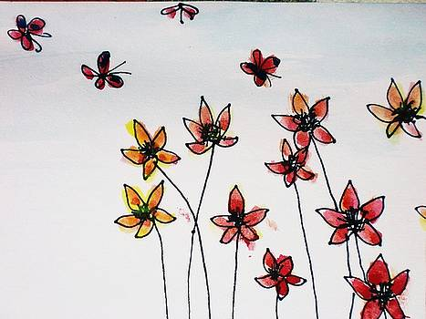 Butterflies and Flowers by Trilby Cole