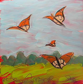 Butterflies Flying 1 by Pam Van Londen