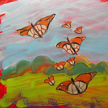 Butterflies Flying 3 by Pam Van Londen