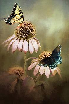 Butterflies on Coneflowers by Vicki McLead