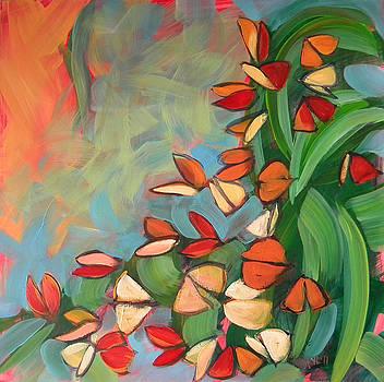 Butterflies Sunning 1 by Pam Van Londen