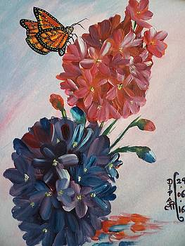 Butterfly and flowers by Dipali Deshpande
