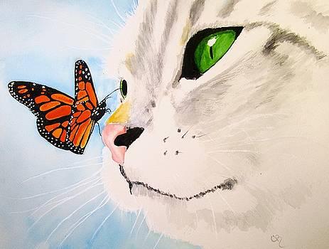 Butterfly-Kissed Grey tabby by Carol Blackhurst