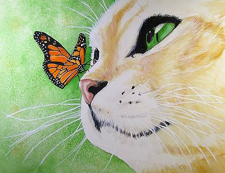 Butterfly Kissed Yellow Tabby by Carol Blackhurst
