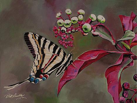 Butterfly on Flower by Bill Dunkley
