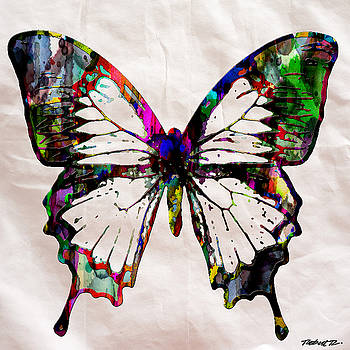 Butterfly Rainbow by Robert R Splashy Art Abstract Paintings