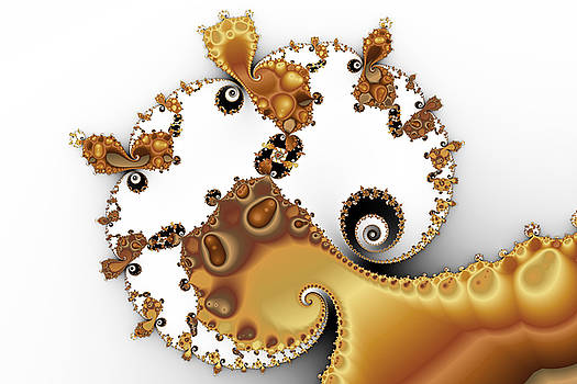 Butterscotch Spirals and Mandelbrot by Mark Eggleston