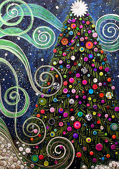 Button tree 0012-Holiday by Monica Furlow