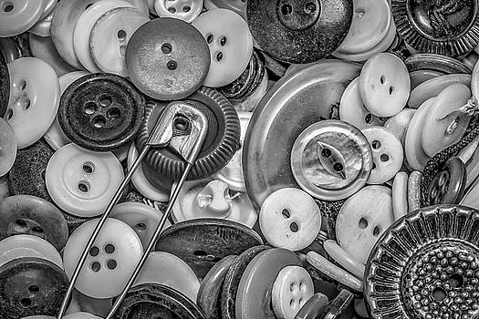 Buttons In Black And White by Ray Congrove