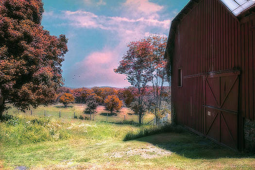 By the side of the Red Barn by John Rivera