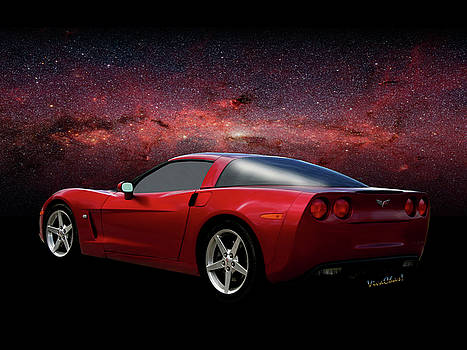 C-6 Corvette and the Cosmos by Chas Sinklier