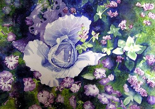 Cabbage and Petunias I by Karla Horst