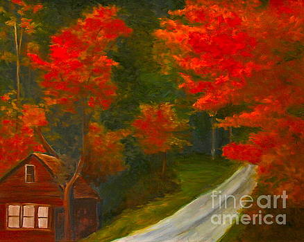 Cabin in  Red Maples  by Sherrill McCall