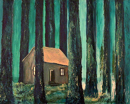 Cabin In The Forest by Richard Beauregard