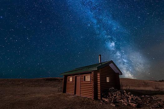 Cabin In The Night by Nebojsa Novakovic