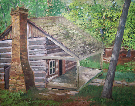 Cabin in the woods by Ron Bowles