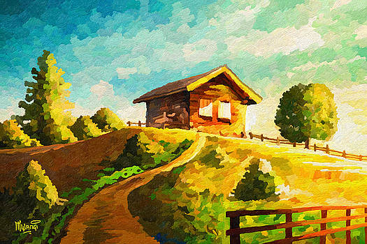 Cabin on Hill  by Anthony Mwangi