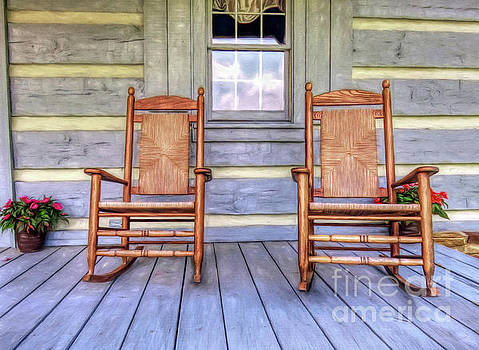 Cabin Porch by Marion Johnson
