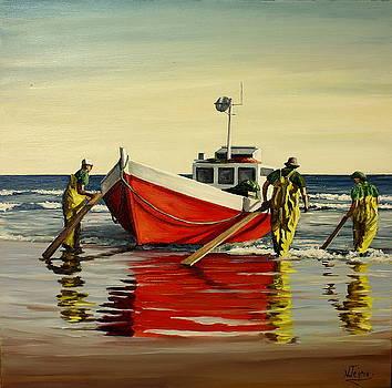 Cabo Polonio fishing by Natalia Tejera