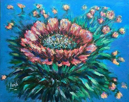 Cactus flowers by Laila Awad Jamaleldin