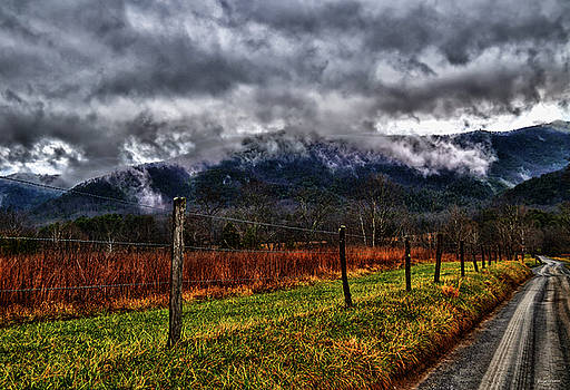 Cades Cove - Storm Clouds 004 by George Bostian