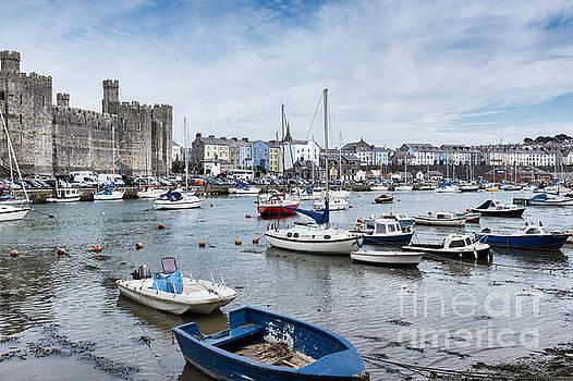 Caernarfon Castle and Harbour by Ann Garrett