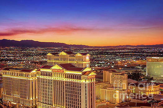 Caesars Palace after Sunset by Eric Evans