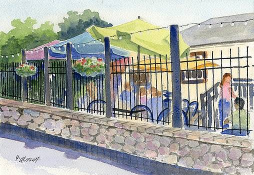 Cafe at Lock 29 by Marsha Elliott