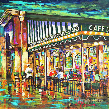 Cafe du Monde Night by Dianne Parks