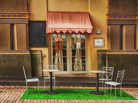 Cafe in Old San Juan by Mick Burkey