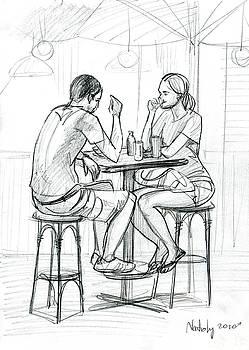 Cafe by Natoly Art