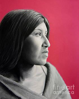 Cahuilla Woman painting by Stu Braks