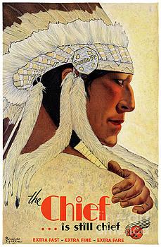 California Chief Restored Vintage Travel Poster by Carsten Reisinger