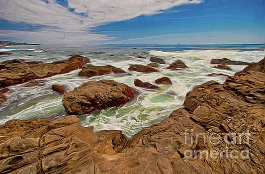 Dan Carmichael - California Coast Waves on Rocks AP