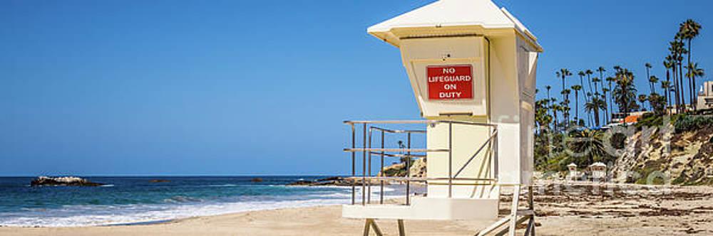 Paul Velgos - California Laguna Beach Lifeguard Tower Panorama Photo