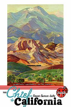 California Restored Vintage Travel Poster by Carsten Reisinger