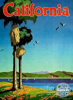 California - Santa Fe poster by Roberto Prusso