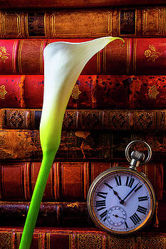 Calla Lily And Pocket Watch by Garry Gay