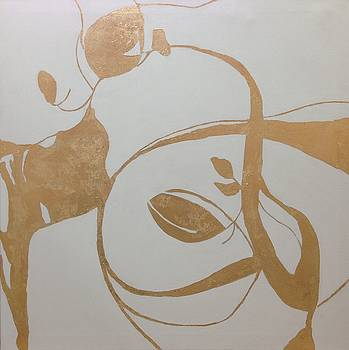Calligraphy in Gold by Carol Hopper