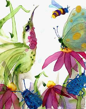 Calliope and Coneflowers by Dawn Derman