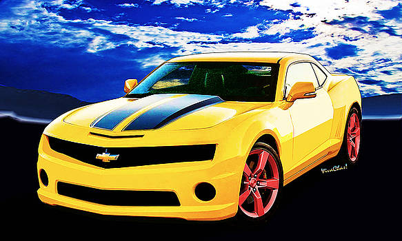 Camaro 2015 Yellow and Black by Chas Sinklier