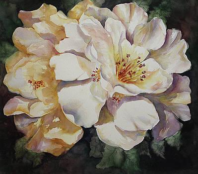 Camellias Golden Glow by Roxanne Tobaison