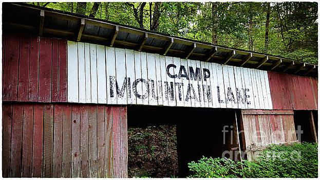 Camp Mountain Lake Horse Stables - Vintage America by Cris Hayes