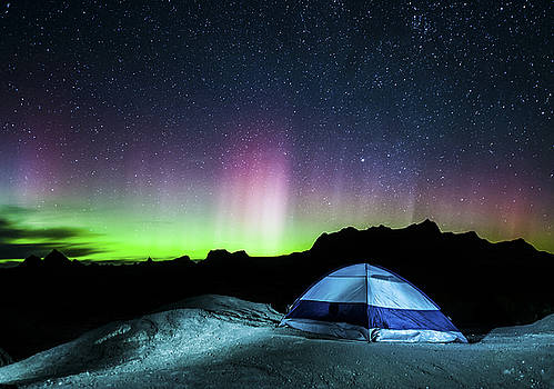 Camping Under the Aurora by Colt Forney